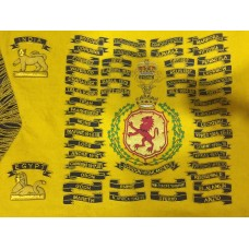 Gordon Highlanders Bagpipe Banner with History
