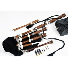 Highland Scottish Bagpipes Rosewood, Ivory & Nickle Mounts