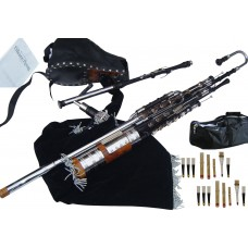 Uilleann Pipes Full Set, African Blackwood with 3 Key Chanter