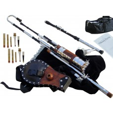 Uilleann Pipes Half Set, African Blackwood with 3 Key Chanter