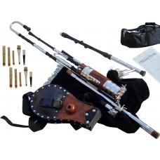 Uilleann Half Set, African Blackwood with Chanter