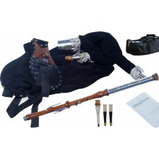 Uilleann Pipes Practice Set Rosewood with 3 Key Chanter